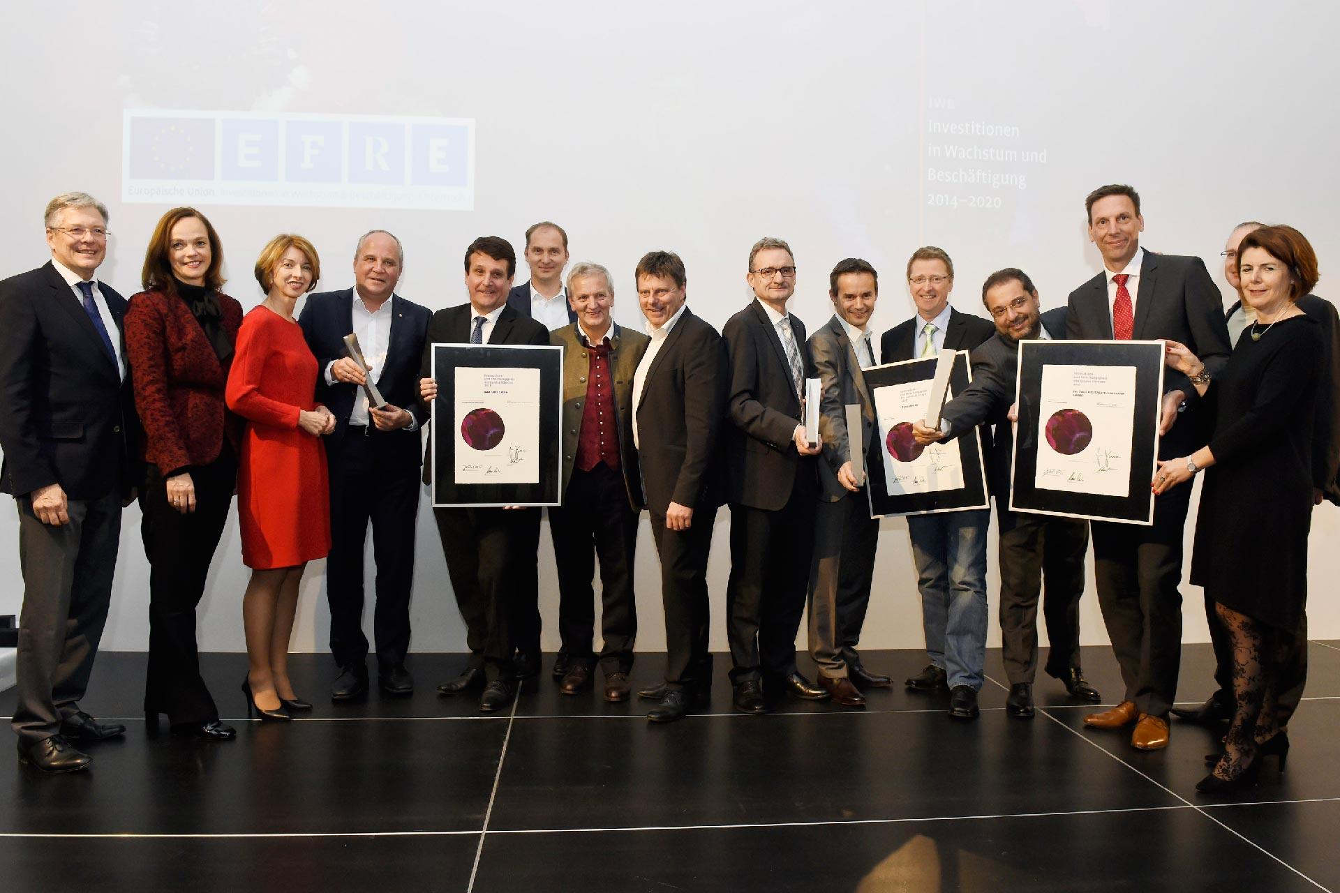 Bei der Preisverleihung des Innovations- und Forschungspreises des Landes Kärnten standen sie im Rampenlicht …
